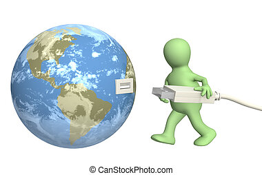Connection - Conceptual 3d image - global communication