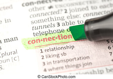 Connection definition highlighted in green