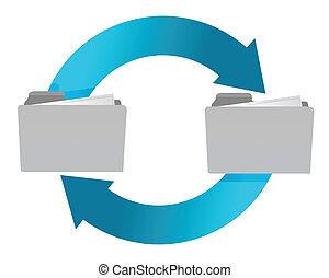 connection of folders illustration