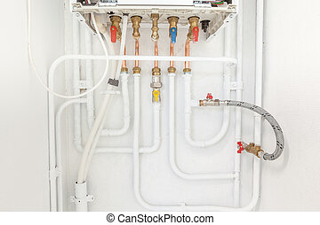connection of heating and hot water