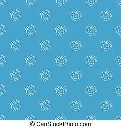 Connection pattern vector seamless blue
