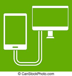 Connection phone icon green