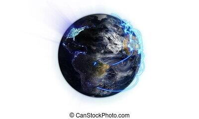connections, земля, синий, превращение