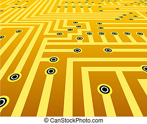 Connections - Abstract vector design of connections on a ...