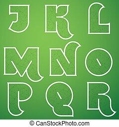 Connections Alphabet Vector Font Set 2 J to R