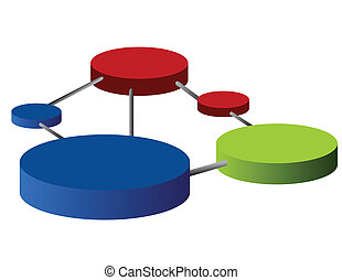 Connections - Network connected circles graph isolated over...