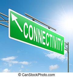 connectivité, concept.
