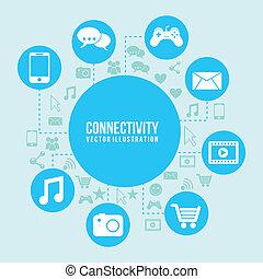 connectivité, icône