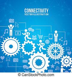 connectivité, infographics