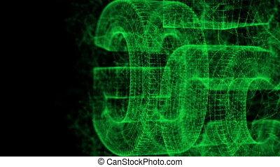 connectivité, ordinateur a engendré, 5g, technologie, animation