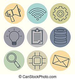 connectivity 5g technology icons