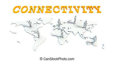 connectivity, concept, met, handel team