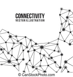 connectivity design over white background vector...