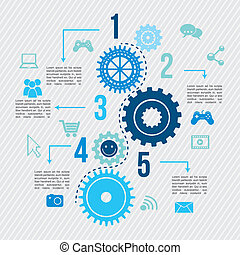 connectivity infographics over lines background vector...