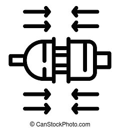 Connector male female icon, outline style