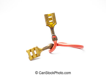 connector red copper wire plug of electric device