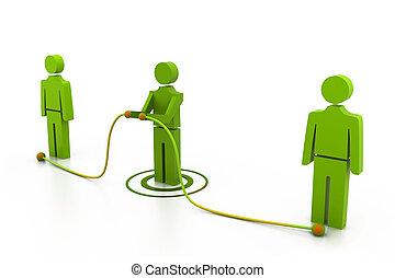connettere, persone