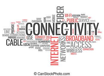 connettività, parola, nuvola