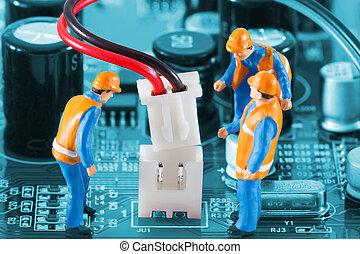 connettore, miniatura, filo, ingegneri, quotazione