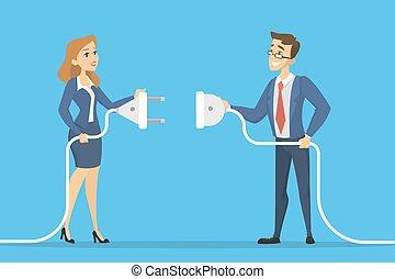 connexion, concept., business