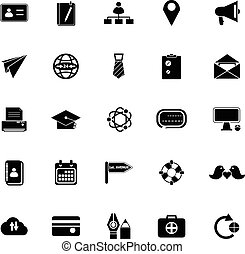 connexion, contact, fond blanc, icônes
