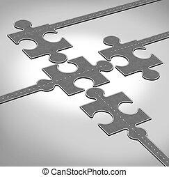 connexion, direction