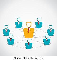 connexion, global, gens