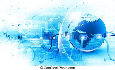 connexion, global, internet, illustration, numérique