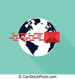 connexion globale, concept, réseau, communication
