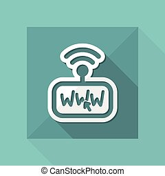 connexion, modem, internet