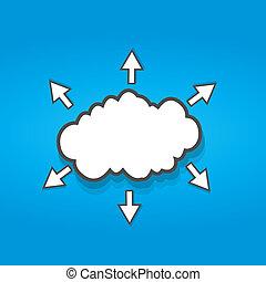 connexion, nuage, social