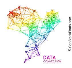connexion, résumé, fond, réseau