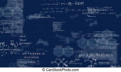 connexion, scientifique, données, réseau, balayage, ...