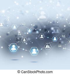 connexions, gens, internet