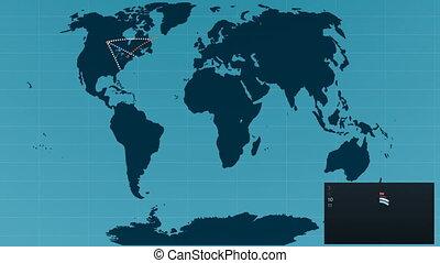 connexions, mondiale, concept, global, map.
