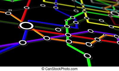 connexions, réseau, métro, gens