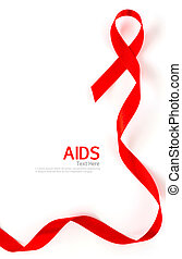 conocimiento ayudas, corazón rojo, cinta, aislado, blanco,...