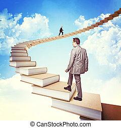 conocimiento, escalera
