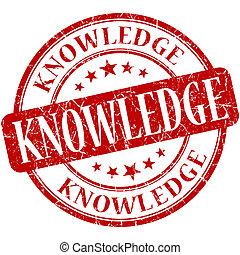 conocimiento, estampilla, vendimia, caucho, grungy, redondo,...