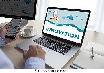 conocimiento, proceso, ideas, inventar, creativo, innovación, pensar