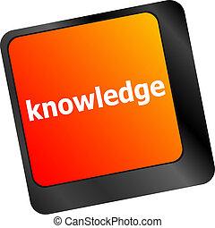 conocimiento, símbolos, computadora, llave, teclado, entrada