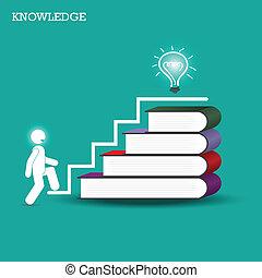 conocimiento, y, aprendizaje, concept.