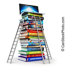 conocimiento, y, educación, concepto