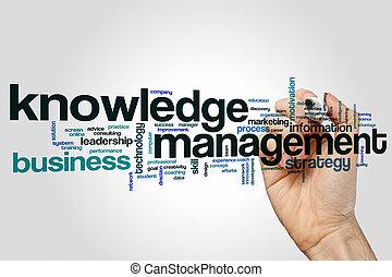 conoscenza, amministrazione, parola, nuvola