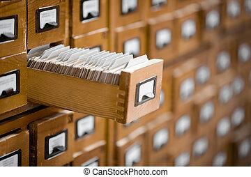 conoscenza, riferimento, database, concept., biblioteca, o, base, catalog., archivio, scheda