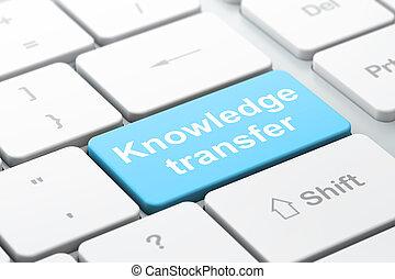 conoscenza, trasferimento, computer, fondo, tastiera, educazione, concept: