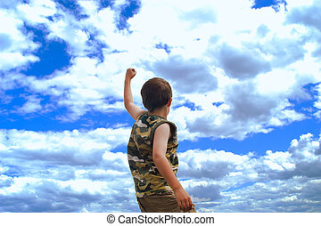 conquer - showing successfulness with a dramatic sky
