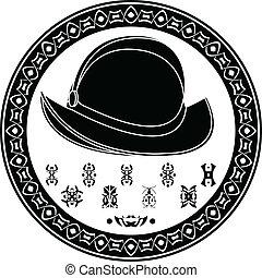 conquista, mayan, simbolo
