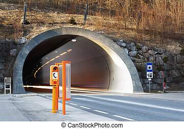conrete car tunnel portal - conrete tunnel portal with and ...