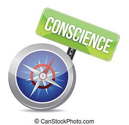 consciência, lustroso, compasso